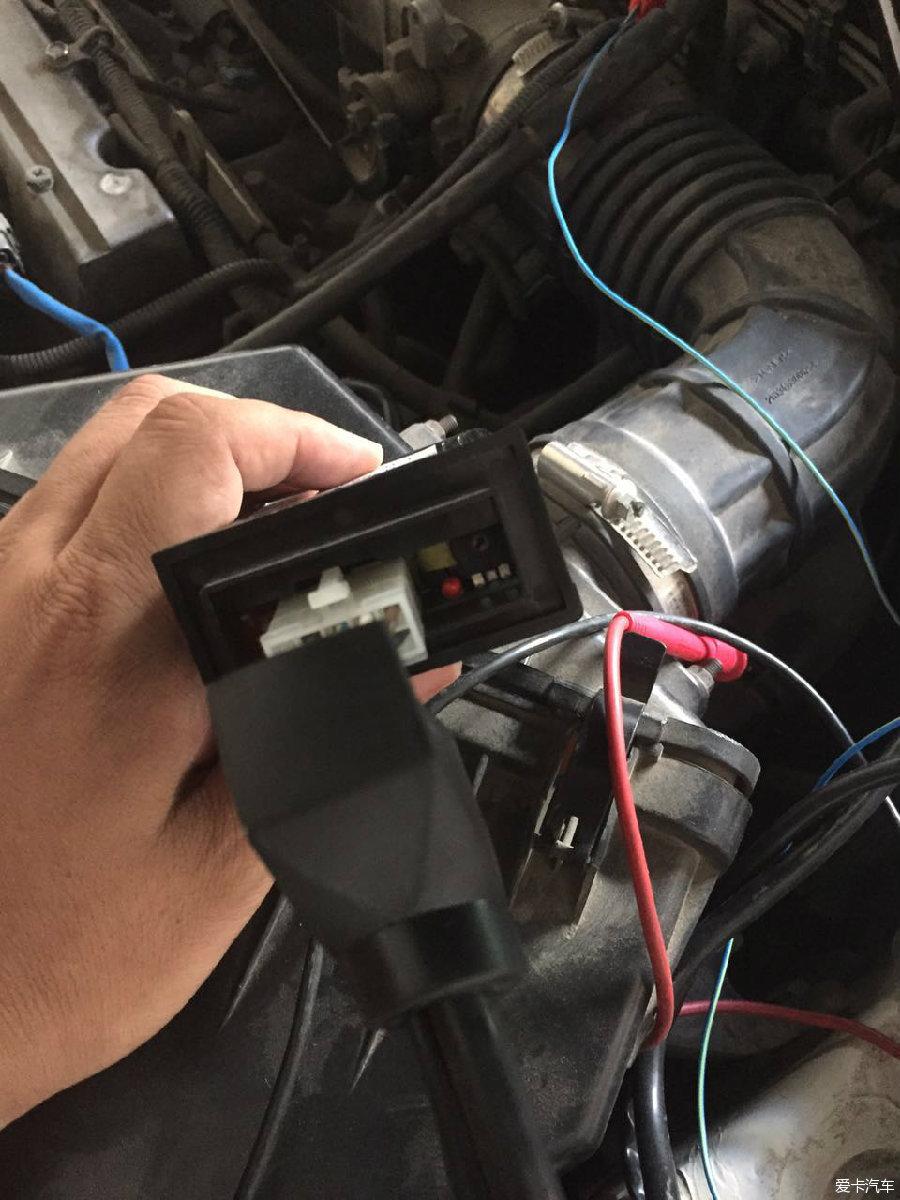 时候没有,我的发电机皮带不太行 下面是我安装的图片,节气门接的高清图片