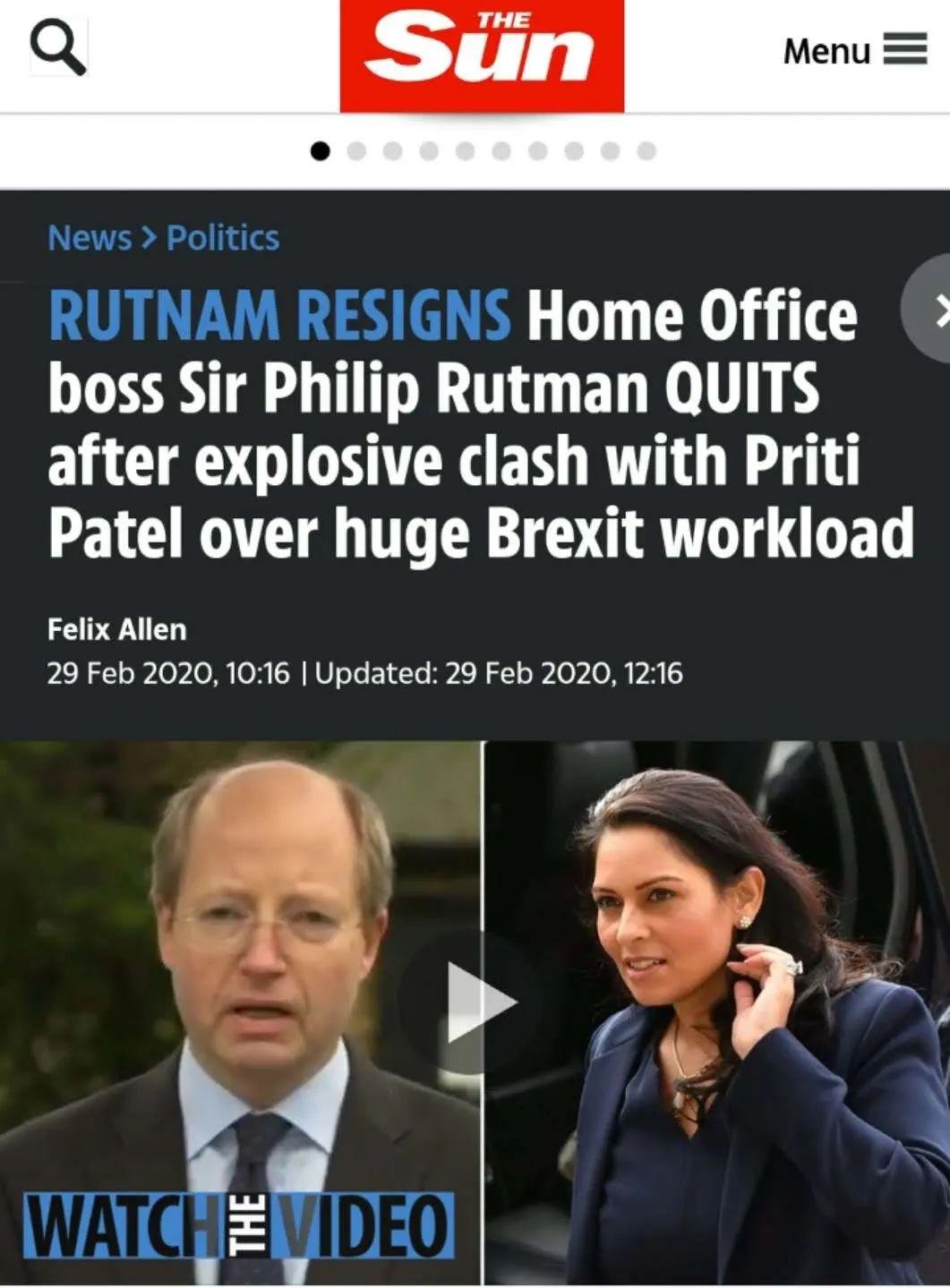 """英国内政部大""""地震"""",各种黑料惊动首相府"""